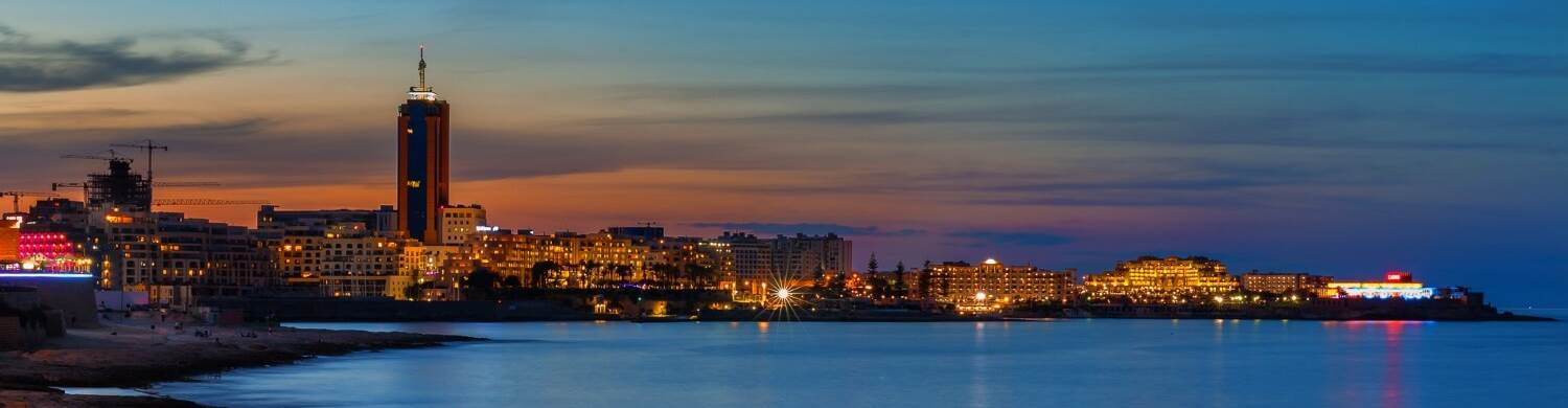 sliema seafront evening